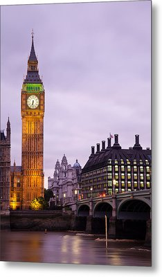 Big Ben In Twilight Metal Print