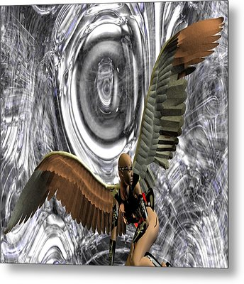 Big Brother Is Watching You Metal Print by Matthew Lacey