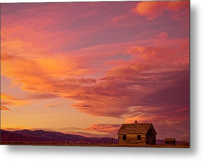 Big Colorful Colorado Sky And Little House On The Prairie Metal Print by James BO  Insogna