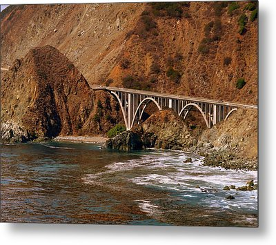 Big Creek Bridge Close Metal Print by Jeff Lowe