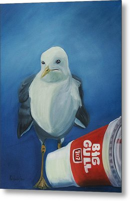 Big Gull Metal Print by Amy Reisland-Speer
