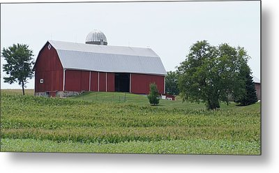 Metal Print featuring the photograph Big Red Barn by Kristine Bogdanovich