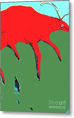 Metal Print featuring the painting Big Red by Bill Thomson