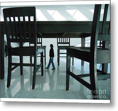 Big Table And Chairs Metal Print by Jim Wright