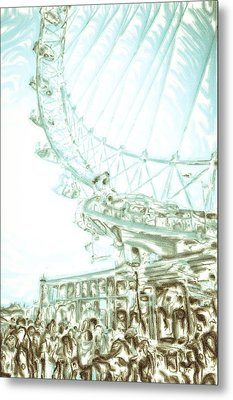 Big Wheel Metal Print by Tom Gowanlock