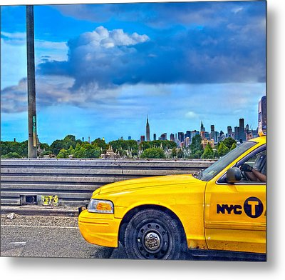 Big Yellow Taxi Metal Print by Marianne Campolongo