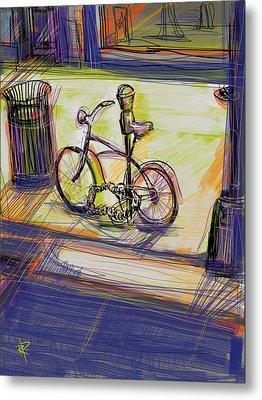 Bike At Rest Metal Print