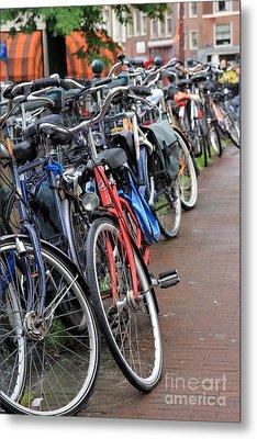 Bike Frenzy Metal Print by Sophie Vigneault