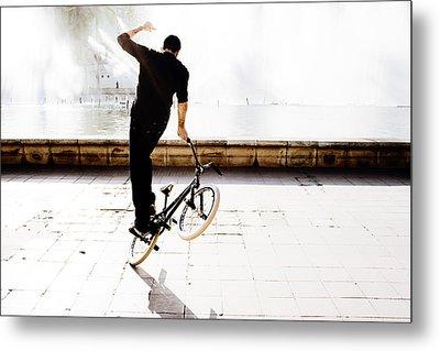 Bike Mx Metal Print by Gabriel Calahorra