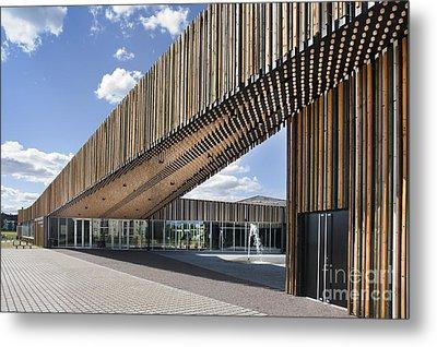 Bike Racks At A Modern Office Building Metal Print by Jaak Nilson
