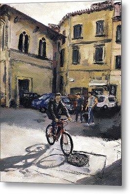 Biker Florencia Metal Print by Randy Sprout