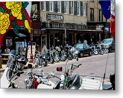 Biker's Bar Metal Print by Toma Caul
