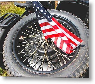Bikers Care Too Metal Print by Feva  Fotos