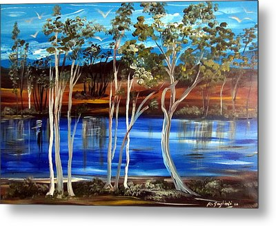 Metal Print featuring the painting Billabong by Roberto Gagliardi