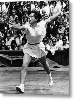 Billie Jean King, Wimbledon, England Metal Print