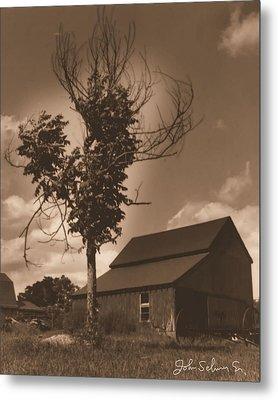 Metal Print featuring the digital art Bills' Barn by John Selmer Sr