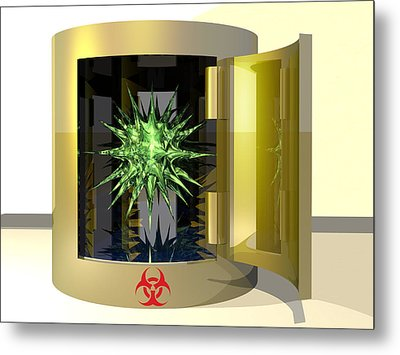 Biohazard Virus Metal Print by Laguna Design