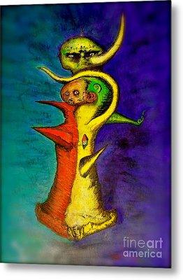 Biohazard  Voodoo Metal Print by Raul Morales