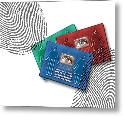 Biometric Id Cards Metal Print