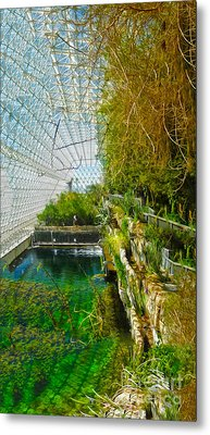 Biosphere2 - Environment 1 Metal Print by Gregory Dyer