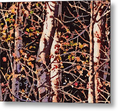 Birch Tapestry Metal Print