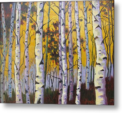 Birches Metal Print by Dan Fusco