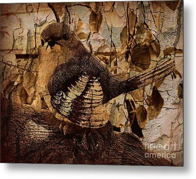Bird In Brown Metal Print