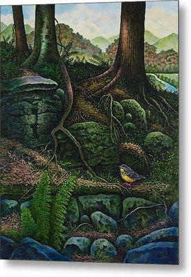 Bird In Paradise Vii Metal Print by Michael Frank
