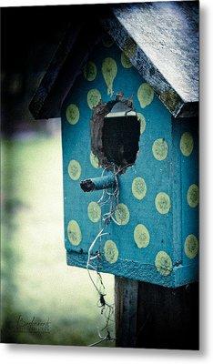 Birdhouse Memories Metal Print by Robin Lewis