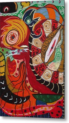 Birds Dragons Whales Metal Print by Clarity Artists