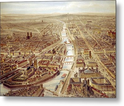 Birds-eye View Above The St. Gervais Metal Print by Everett