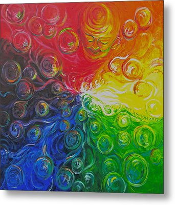 Birth Of Color Metal Print by Jeanette Jarmon