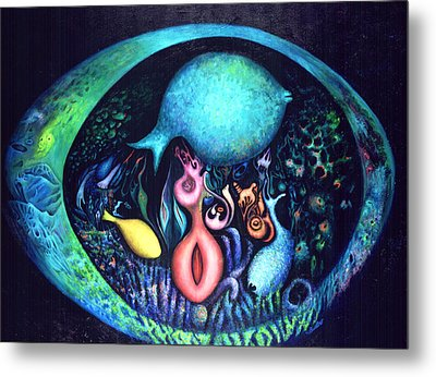 Birth Of Genes Metal Print