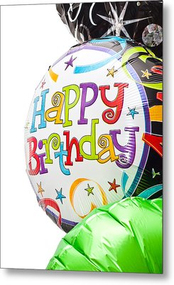 Birthday Balloons Metal Print by Tom Gowanlock