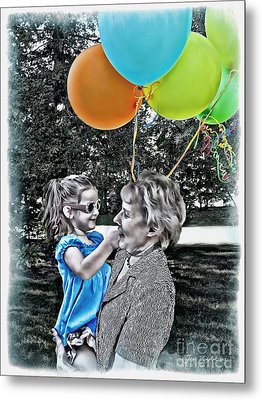 Birthdays Metal Print by Joan  Minchak