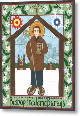 Bishop Frederic Baraga Icon Metal Print by David Raber