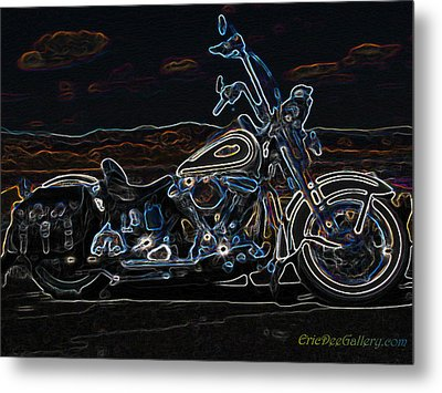 Black And Blue Metal Print by Eric Dee