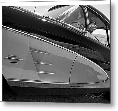 Metal Print featuring the photograph Black And Chrome by Cheri Randolph