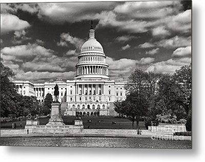 Black And White Capitol Metal Print