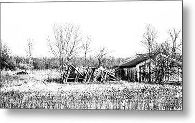 Black And White Memory Metal Print by Tabitha Connis