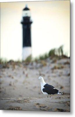Black And White On The Beach Metal Print by Vicki Jauron