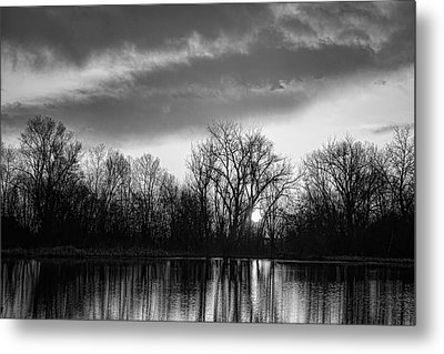 Black And White Sunrise Over Water Metal Print by James BO  Insogna