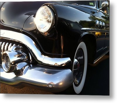 Metal Print featuring the photograph Black Buick 1952 by Elizabeth Coats