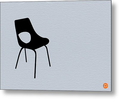 Black Chair Metal Print by Naxart Studio