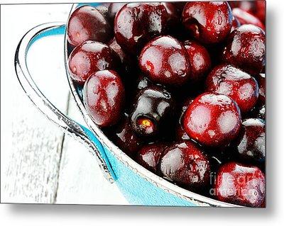 Black Cherries Metal Print by Stephanie Frey