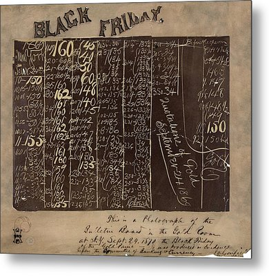 Black Friday Gold Prices, 1869 Metal Print by Library Of Congress