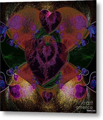 Black Heart Color Metal Print