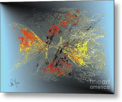 Metal Print featuring the digital art Black Hole IIi by Leo Symon