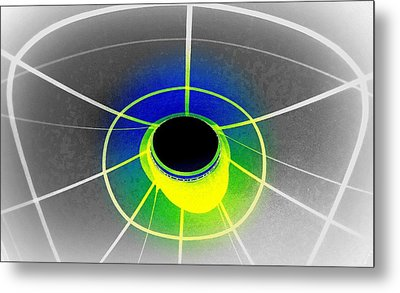 Black Hole With Aura Metal Print by Randall Weidner