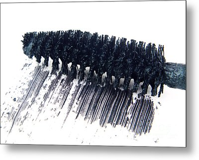 Black Mascara Metal Print by Blink Images
